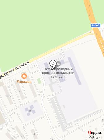 Тюменский нефтепроводный профессиональный лицей на карте