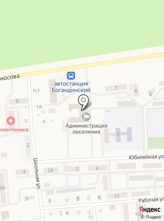 Администрация Богандинского муниципального образования на карте