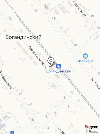 Богандинская на карте