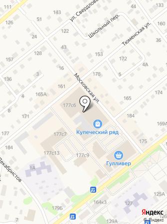 Купеческий ряд на карте