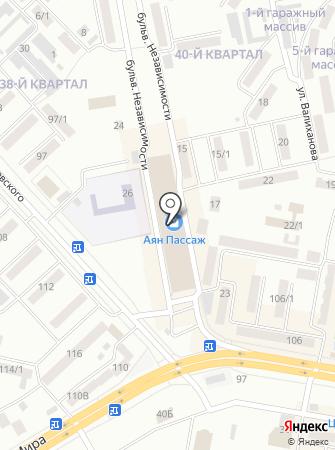 Магазин сотовых телефонов на бульваре Независимости на карте