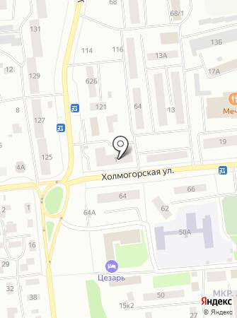 NaМодель на карте