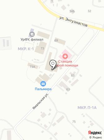 Каретный двор на карте