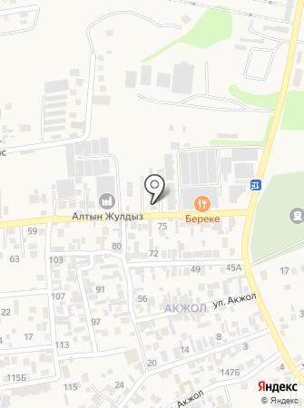 Айдана на карте