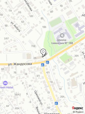 Алтын Тау на карте