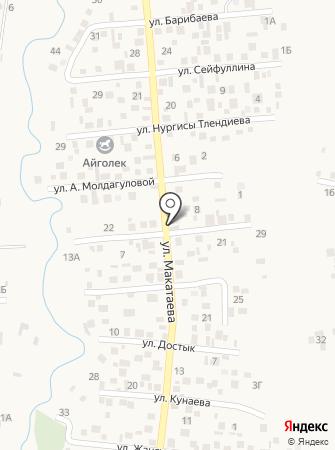 Балнур на карте
