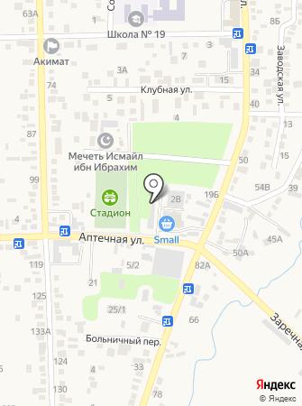 Роза на Аптечной на карте