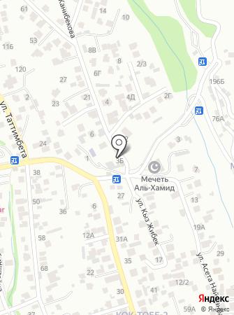 КокТобе на карте