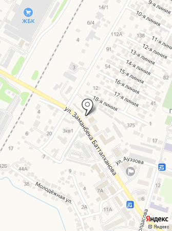 Участковый пункт полиции №1 Илийского района на карте