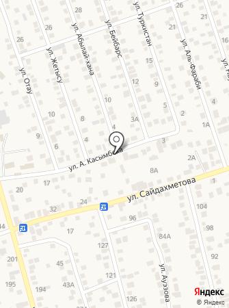 Береке, продовольственный магазин на карте
