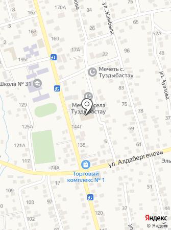 Дом культуры пос. Туздыбастау на карте