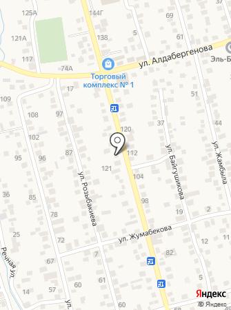 Шиномонтажная мастерская на ул. Жылкыбая на карте