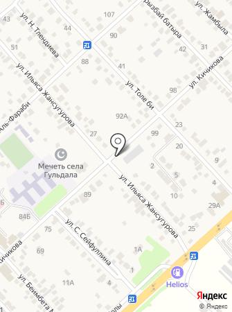 Кызыл Гул, ТОО на карте