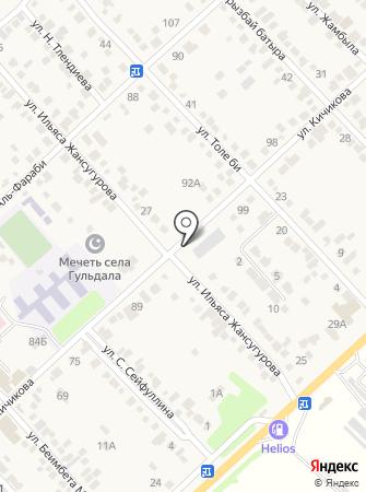 Почтовое отделение связи с. Гульдала на карте