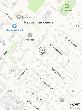 Қазақтелеком на карте