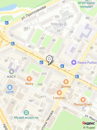 Азбука связи на карте
