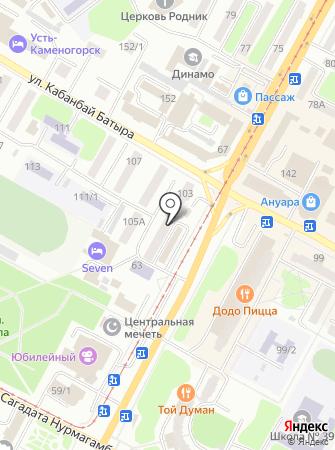Ложка на карте