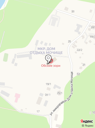 Обские Зори, МБУ на карте