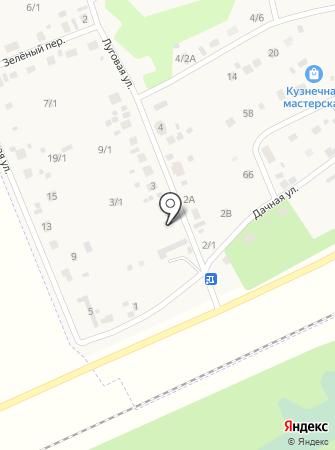 Продуктовый магазин на Луговой (пос. Октябрьский) на карте