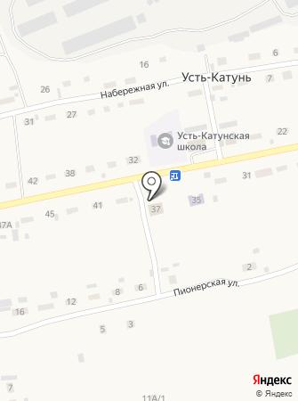 Усть-Катунская сельская библиотека на карте