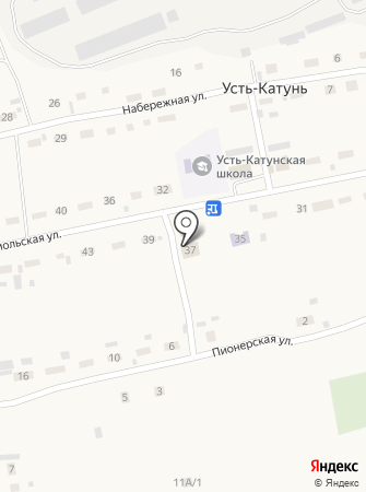 Усть-Катунский сельский дом культуры на карте