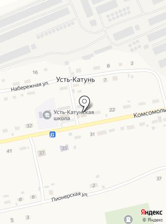 Усть-Катунский фельдшерско-акушерский пункт на карте
