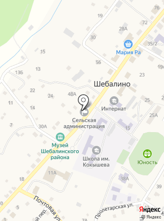 Администрация Шебалинского сельского поселения на карте