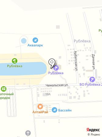 Рублёвское заречье на карте