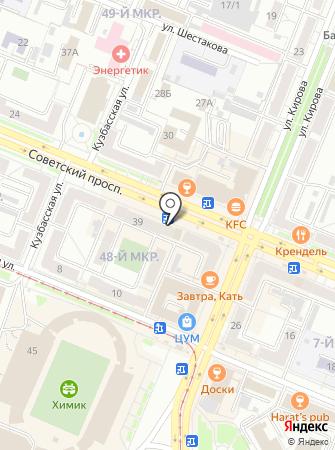 Экона на карте