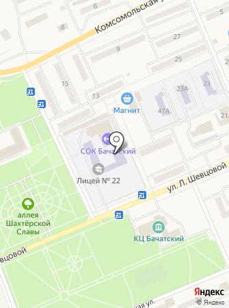 Лицей №22 г. Белово на карте