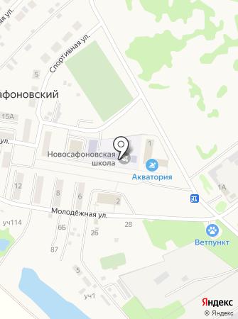 Новосафоновская средняя общеобразовательная школа на карте