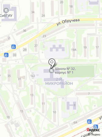 Средняя общеобразовательная школа с углубленным изучением отдельных предметов №32 на карте
