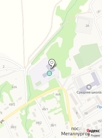 Металлурговская средняя общеобразовательная школа на карте