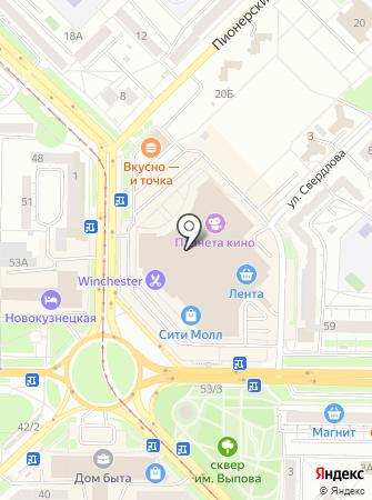 Мегакс на карте
