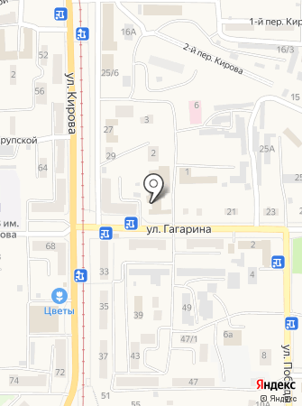 Кадастровый инженер Охотников С.В. на карте