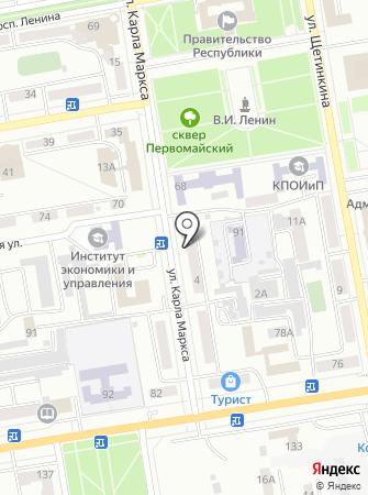 Изюм на карте