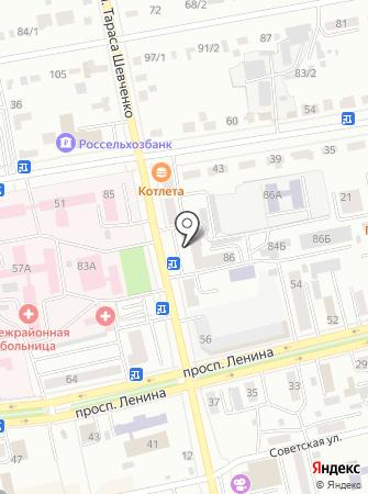 Квадратный метр на карте