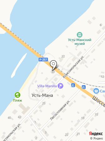У дороги на карте