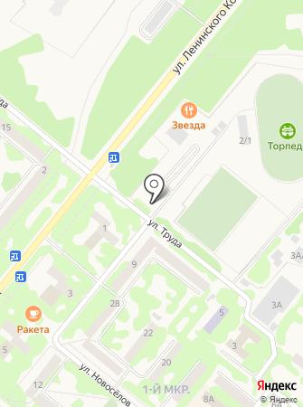 Автостоянка на ул. Труда на карте