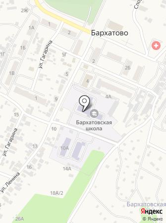 Бархатовская средняя общеобразовательная школа на карте