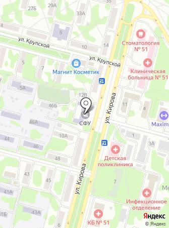 СФУ на карте