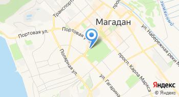 Часовня Георгия Победоносца в Магадане на карте
