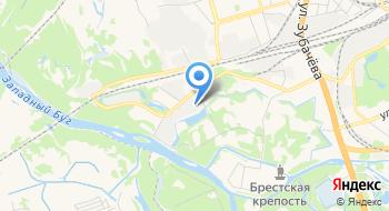 Брестская Краснознаменная пограничная группа им. Ф.Э. Дзержинского на карте