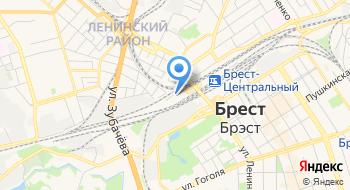 Вагонный Участок РУП Брестское отделение Белорусской Ж/д на карте