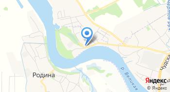 Баня в Пскове на карте
