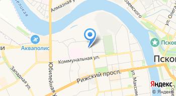 Псковская станция скорой медицинской помощи на карте