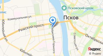 Центральная городская библиотека города Пскова на карте