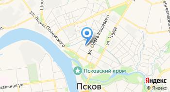 Пункт отбора на военную службу по контракту по Псковской области на карте