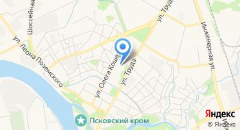 Псковская областная федерация гребли на байдарках и каноэ, гребного слалома на карте