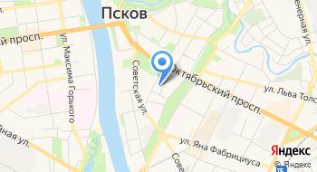 Псковская таможня на карте